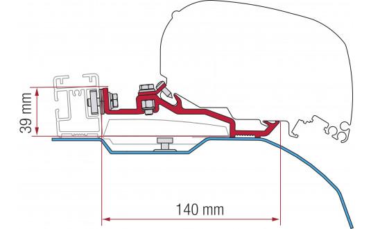 F80S KIT DUCATO H2 SMART CLAMP SYSTEM POUR L2 , L3 ET L4