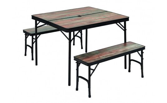 TABLE TRIGANO + 2 BANCS