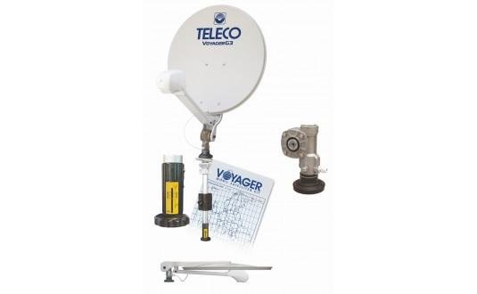 ANTENNE MANUELLE TELECO VOYAGER DIGIMATIC 65 CM + MAT 33 CM + DEMO HD