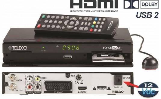 DÉMODULATEUR TELECO FORCE HD CI+ POUR ANTENNES CAMPING-CARS