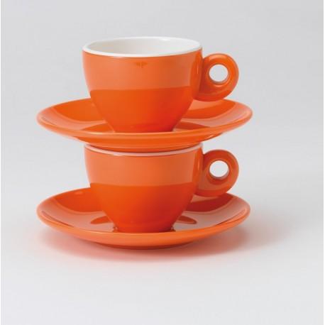 TASSE À CAFE EXPRESSO MELAMINE ORANGE POUR CAMPING