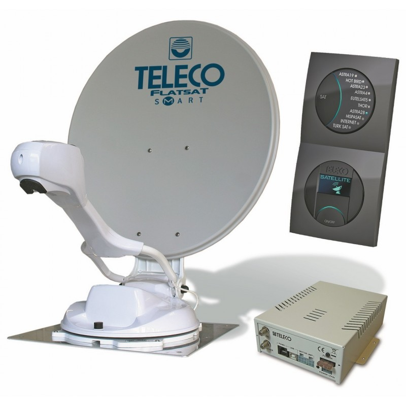 ANTENNE AUTOMATIQUE TELECO FLATSAT EASY S 85 CM SKEW + DEMO HD - To...