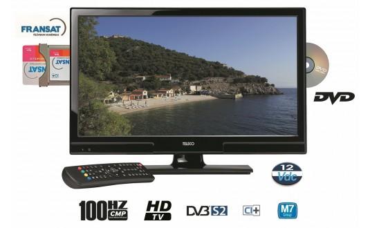TV 20' LED TELECO HD DVD DÉCODEUR INTÉGRÉ POUR CAMPING-CARS