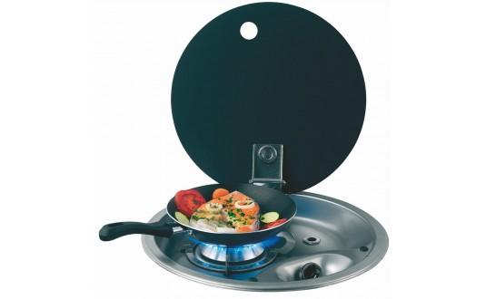 plan de cuisson inox pour camping-car avec couvercle