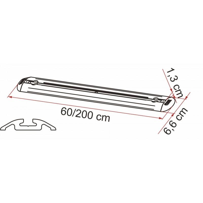 Rangement soute fiamma barre de fixation garage bar premium 200 t - Barre de rangement garage ...