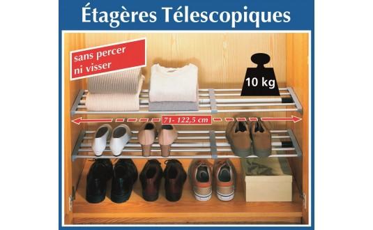 RANGEMENT ÉTAGÈRE TELESCOPIQUE POUR PLACARD DE CAMPING-CAR