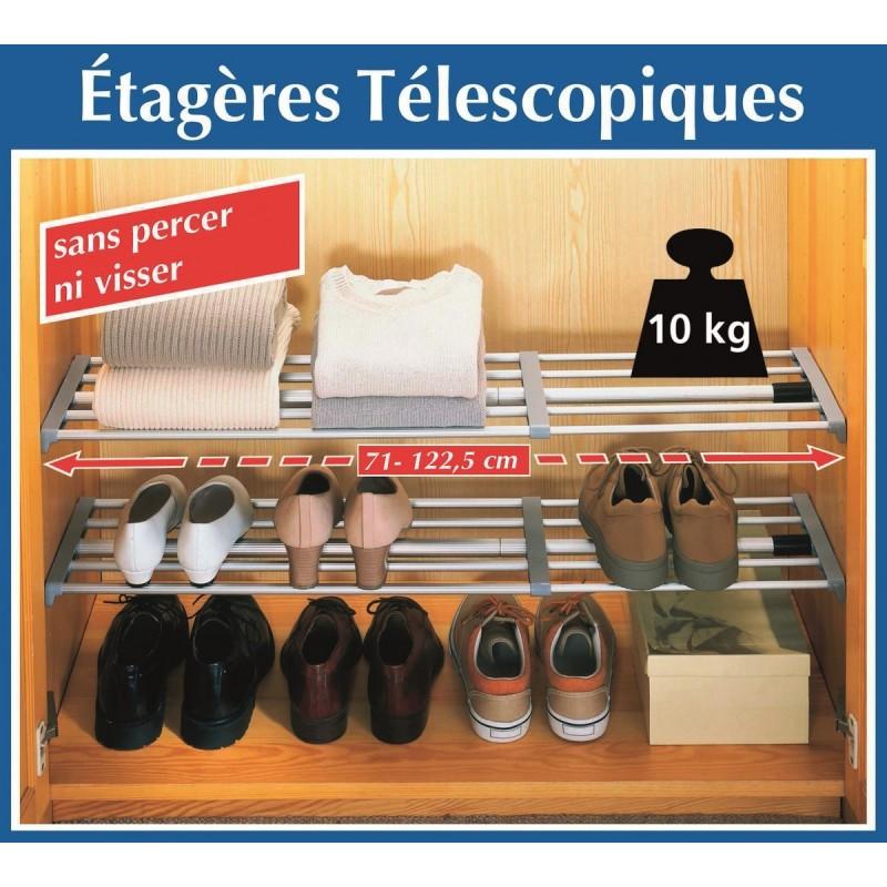 rangement tag re telescopique top accessoires. Black Bedroom Furniture Sets. Home Design Ideas
