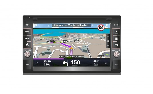 GPS 6,2' MOOVE DOUBLE DIN POUR CAMPING-CAR