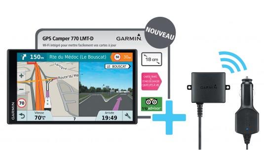 GPS GARMIN CAMPER 770 LMT-D + CAMERA DE RECUL BC30 POUR CAMPING-CARS