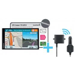 GPS GARMIN CAMPER 770 LMT-D + CAMERA DE RECUL BC30