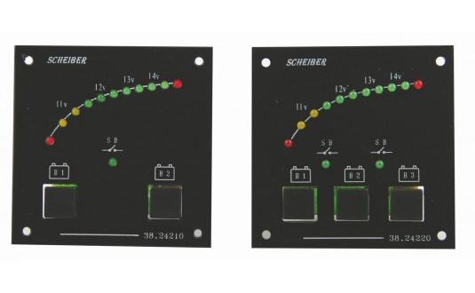 TABLEAU DE CONTRÔLE À LED 3 BATTERIES POUR CAMPING-CAR