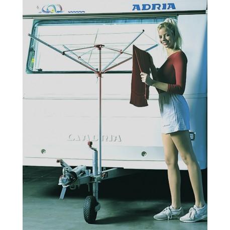 etendoir linge sechoir parapluie adaptable sur roue. Black Bedroom Furniture Sets. Home Design Ideas