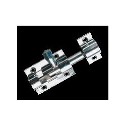 Targettes en laiton poli avec gâche - Longueur 50, pène de 44 mm