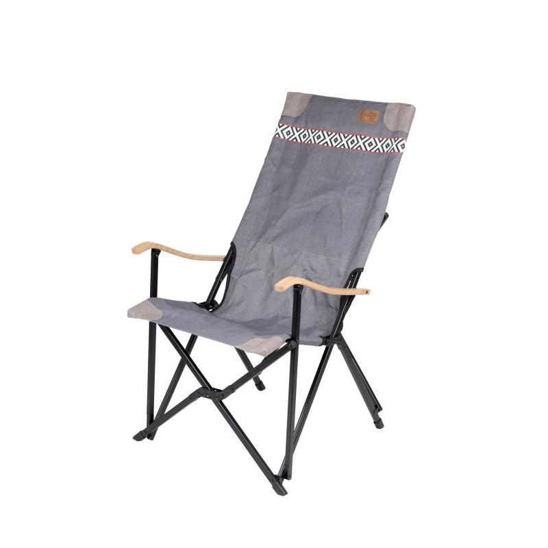 fauteuil alu bois et toile vintage top accessoires. Black Bedroom Furniture Sets. Home Design Ideas