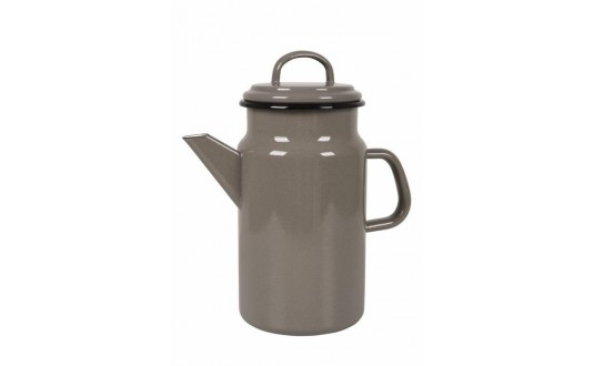 CAFETIERE EMAILLEE TAUPE VINTAGE