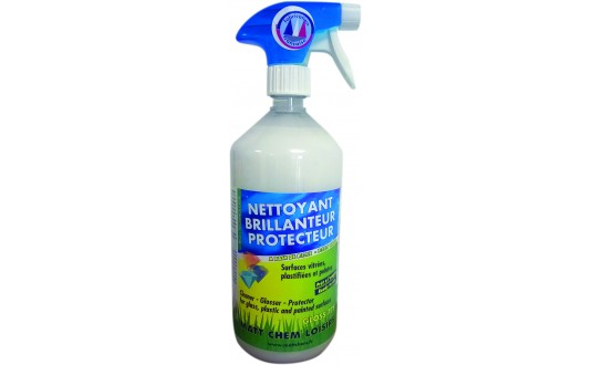 NETTOYANT BRILLANTEUR PROTECTEUR SURFACES VITREES PLASTIFIEES & PEINTES SPRAY 1L