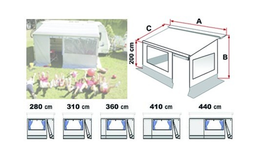 FERMETURE DE STORE FIAMMA PRIVACY ROOM CS LIGHT F35PRO CARAVANE 410
