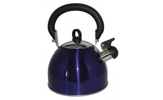 BOUILLOIRE INOX MOOVE 2,5L BLEUE POUR CAMPING-CAR
