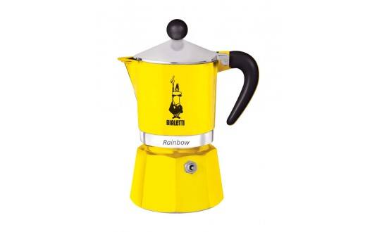 CAFETIERE RAINBOW 3 TASSES JAUNE