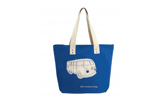 SAC DE PLAGE VW CANVAS BLEU