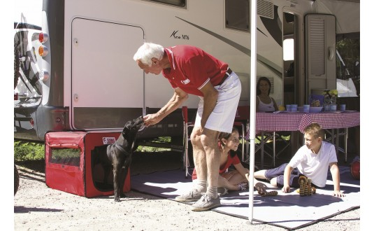 NICHE PORTABLE FIAMMA CARRY DOG POUR CAMPING