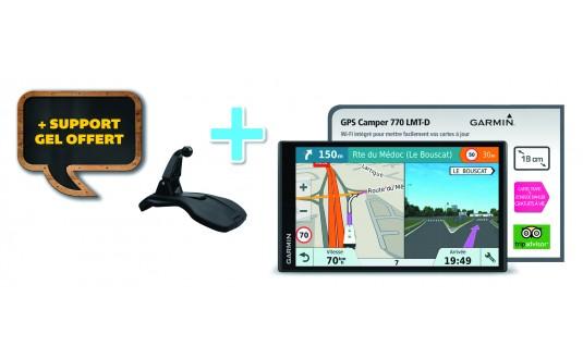 GPS GARMIN CAMPER 780 LMT-D + 1 SUPPORT GEL OFFERT