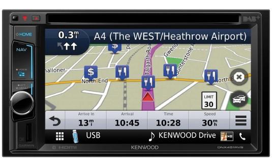 GPS AUTORADIO 2 DIN KENWOOD DNX451TR + CAMÉRA+KIT DUCATO