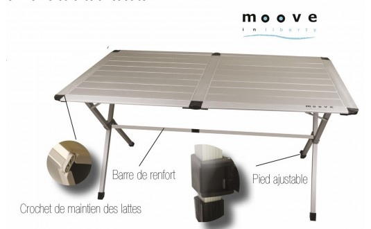 TABLE MOOVE 140 ALU