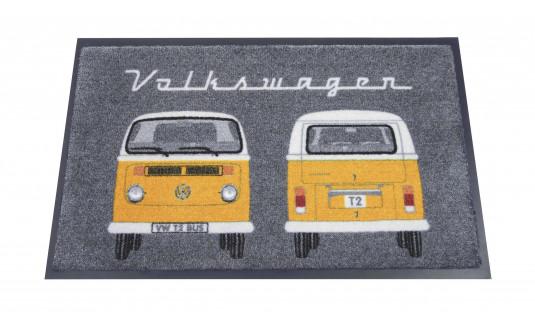 TAPIS D'ENTREE VW GRIS ORANGE T2 - 72.50 x 43.00 CM