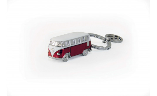 PORTE CLE BUS VW T1 3D - ROUGE
