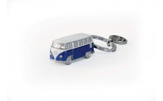 PORTE CLE BUS VW T1 3D - BLEU