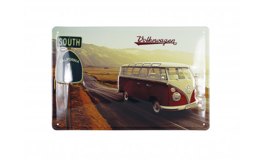 PLAQUE METAL LEGENDARY VW - HORIZONTALE 20 x 30 CM