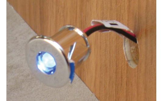 SPOT FIXE À LED 1 LED BLEUTÉ CHROMÉ