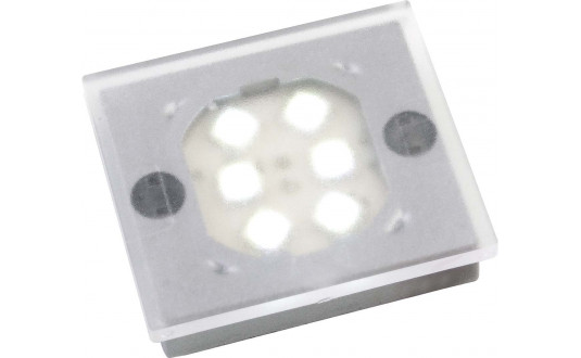 SPOT FIXE 6 POWER LEDS NOIR AVEC INTERRUPTEUR