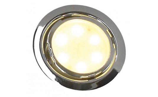 SPOT FIXE À LED 6 LED CHROMÉ