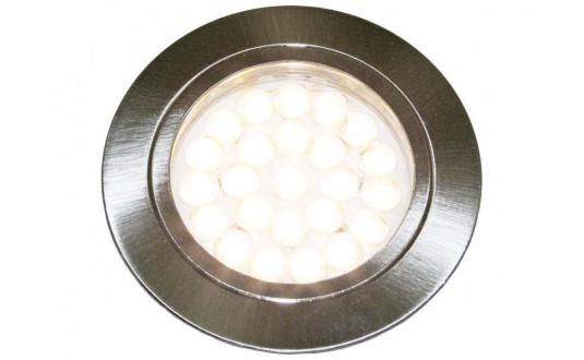 SPOT FIXE À LED 24 LED CHROMÉ