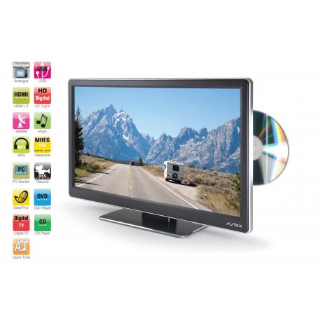 TV 18,5' AVTEX HD DVD DÉMODULATEUR FRANSAT HD INTÉGRÉ