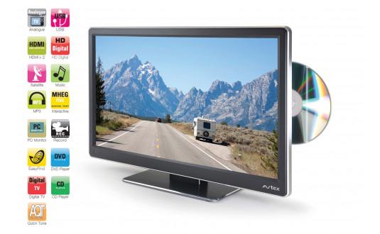 TV 15,6' AVTEX HD DVD DÉMODULATEUR FRANSAT HD INTÉGRÉ POUR CAMPING-CARS