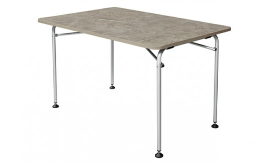 TABLE ISABELLA ULTRA LEGERE GRISE 120 X 80 CM