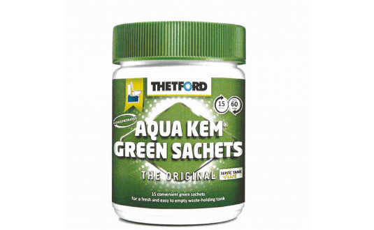 AQUA KEM GREEN 15 SACHETS THETFORD